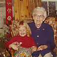 Great Grandma Lawrence and Justine