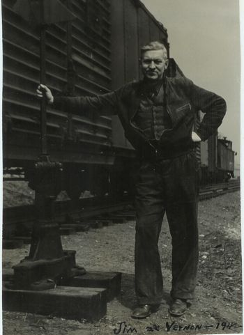 James S Lawrence at Vernon Station 1942