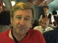 John on train to Florence