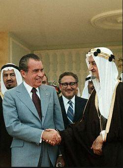 Nixon and King Faisal of Saudi Arabia