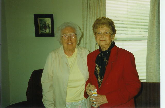 Florence Lawrence and Edith Leatham Xmas