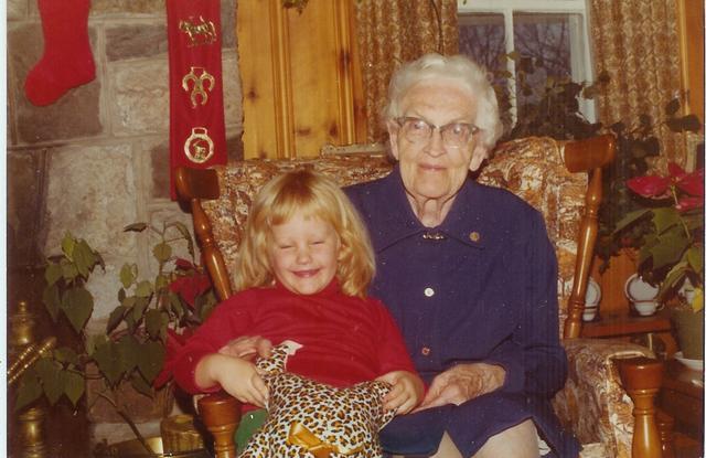 Great Grandma Lawrence and Justine
